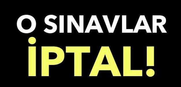 #SONDAKİKA SINAVLAR İPTAL EDİLDİ!