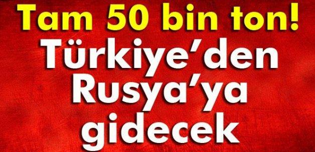 Tam 50 bin ton! Türkiye'den Rusya'ya gidecek!