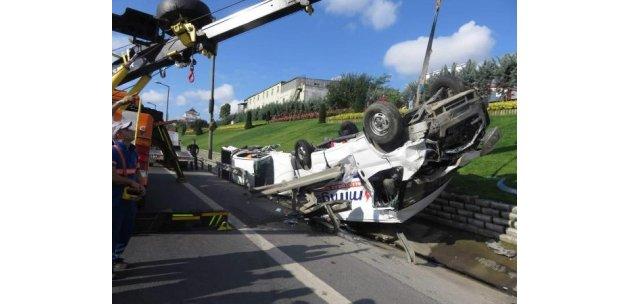 TEM'de zincirleme kaza trafik yoğunluğuna neden oldu!