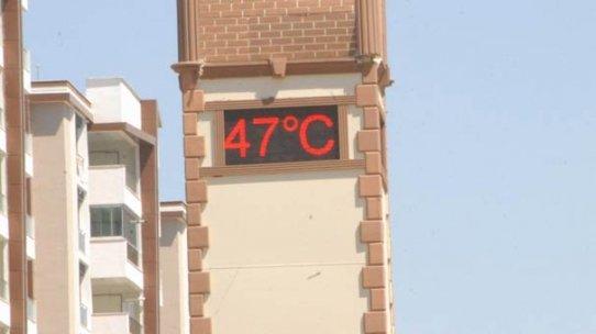 Termometreler 47 dereceyi gösterdi!