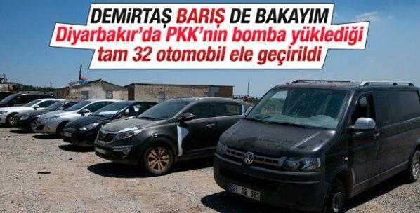 Terör örgütü PKK'nın bomba yüklü 32 aracı yakalandı
