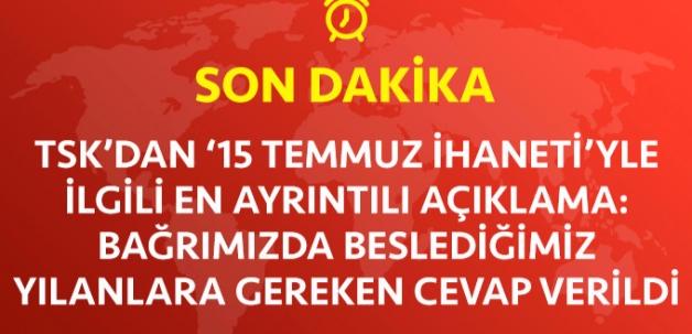 TSK'DAN FLAŞ DARBE AÇIKLAMASI!