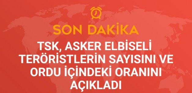 TSK 'Asker Elbiseli Teröristlerin' Sayısını ve Ordu İçindeki Oranını Açıkladı
