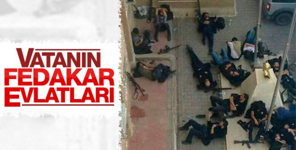 Türk polisi hainlere karşı gece gündüz ayakta