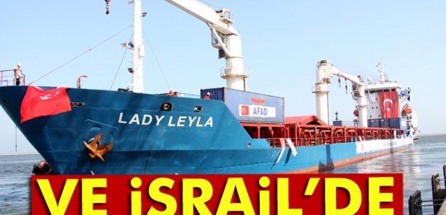 Türkiye'den Gazze'ye yardım götüren gemi İsrail'e ulaştı