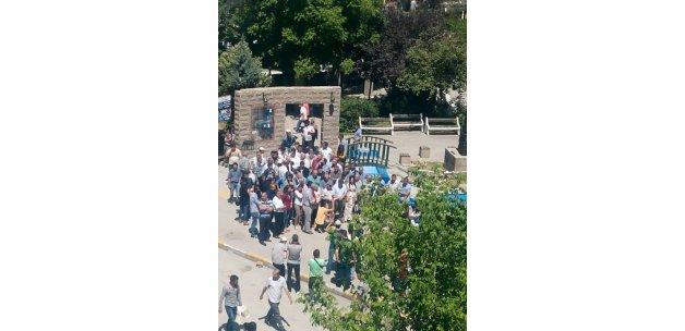 Van'da sehir parkinda Lice protestosu