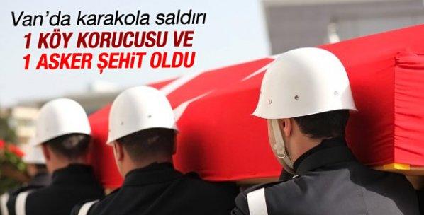 Van Erciş'te karakola bombalı saldırı