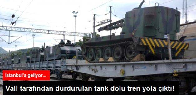 16 Temmuz'da Durdurulan Tankların Taşındığı Tren Yola Çıktı