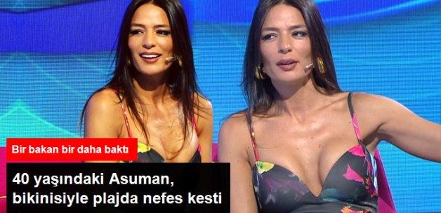 40 Yaşındaki Asuman Krause Bikinisiyle Nefes Kesti