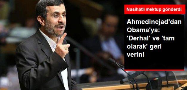 Ahmedinejad'dan Obama'ya Mektup: İran'ın Mal Varlığını Derhal ve Tam Olarak Verin
