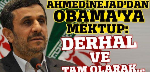 Ahmedinejad'dan Obama'ya mektup: Derhal ve tam olarak...