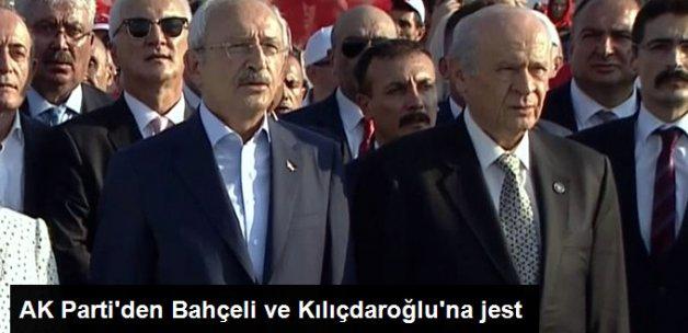 AK Parti'den Bahçeli'ye Yenikapı Jesti