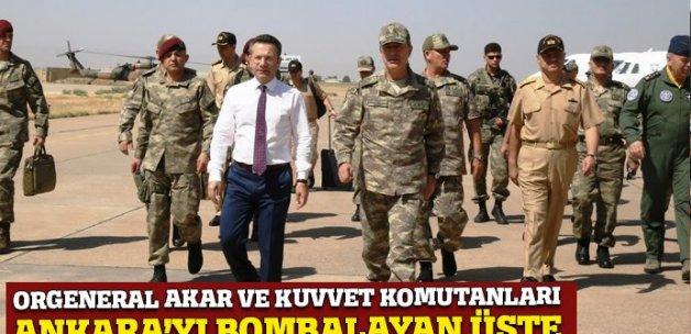 Akar, Kuvvet Komutanları ile Diyarbakır'a geldi