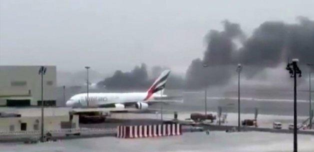 Alev alan yolcu uçağında 5 de Türk yolcu bulunuyor