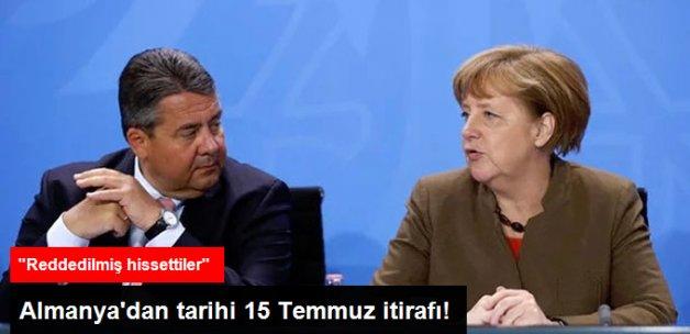 Almanya'dan 15 Temmuz İtirafı
