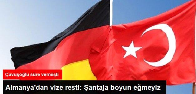 Almanya'dan Vize Resti: Şantaja Boyun Eğmeyiz