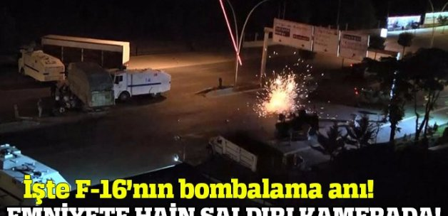 Ankara Emniyet'in helikopter ve F16 ile bombalanması kamerada