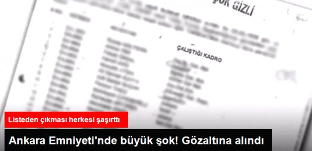 Ankara Emniyeti'nde Büyük Şok! Terörle Mücadele Şube Müdür Yardımcısı Gözaltında
