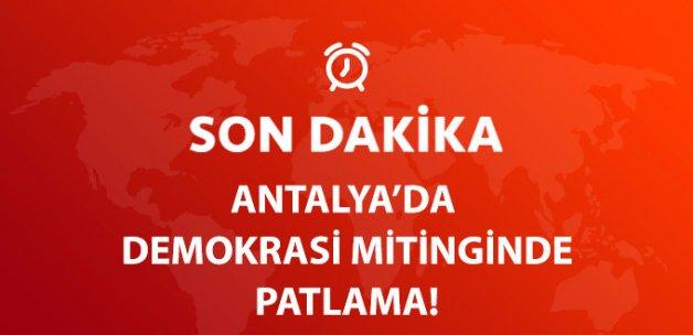 Antalya'da Demokrasi Mitingi Sırsında Tüp Patladı: 2 Yaralı