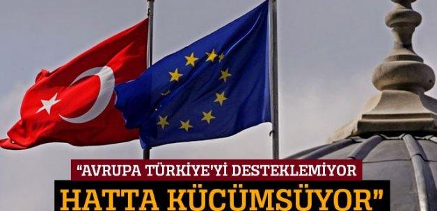 'Avrupa Türkiye'yi desteklemiyor hatta küçümsüyor'