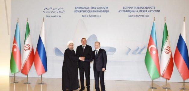 Azerbaycan-Rusya-İran Üçlü Zirve'de buluştu
