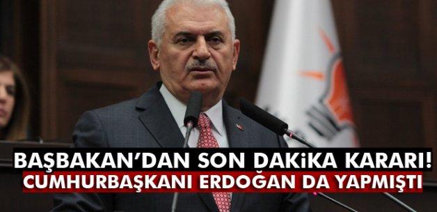 Başbakan Yıldırım bin 500 davayı geri çekti