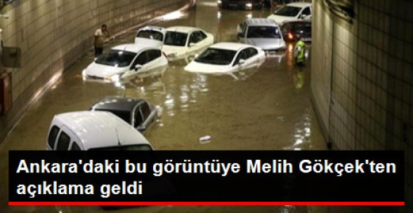 Başkentteki Şiddetli Yağışa Gökçek'ten Açıklama: Bu Bir Afat Hali