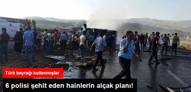 Bingölde'ki Saldırıda Bombalı Aracı Türk Bayrağıyla Kamufle Etmişler