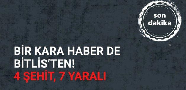 Bitlis'te Askere Hain Tuzak! 4 Şehit 7 Yaralı