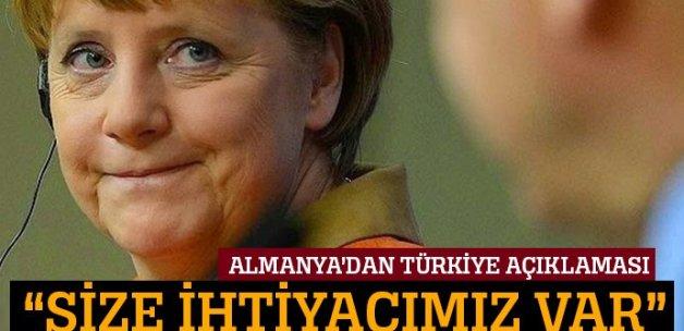 'Bizim Türkiye'ye, Türkiye'nin de bize ihtiyacı var'