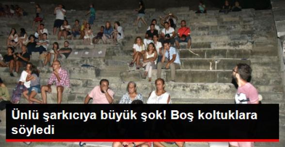 Bodrum Konserinde Boş Koltuklara Söyledi