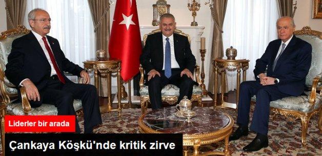Çankaya'da Liderler Zirvesi! Yıldırım, Kılıçdaroğlu ve Bahçeli Bir Arada