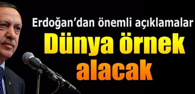 Cumhurbaşkanı Erdoğan huber köşkü'nde gazetecilere konuştu: