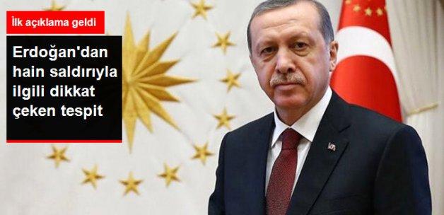 Cumhurbaşkanı Erdoğan'dan, Cizre Saldırısıyla İlgili Çarpıcı Tespit