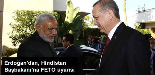 Cumhurbaşkanı Erdoğan'dan, Hindistan Başbakanı Modi'ye FETÖ Uyarısı