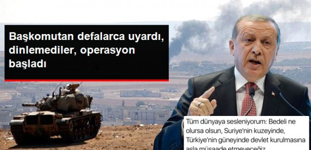 Cumhurbaşkanı Erdoğan'ın Suriye Tweet'i