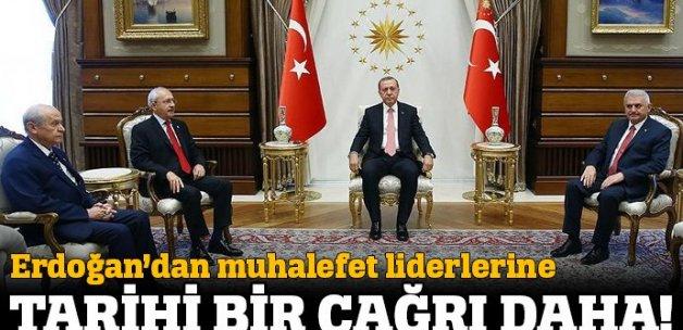 Cumhurbaşkanı Erdoğan liderleri Yenikapı'da düzenlenecek mitinge davet etti