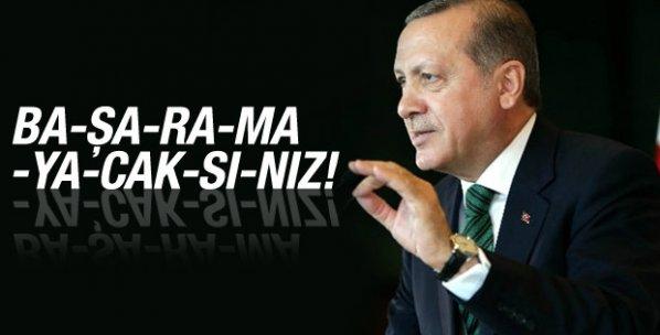 Cumhurbaşkanı Erdoğan: Millete saldıranlar başaramayacak