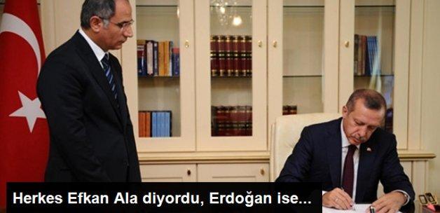 """Cumhurbaşkanı Erdoğan Şapkalı """"A"""" İle Efkan Ala'nın Soyadını Telaffuz Ediyordu"""