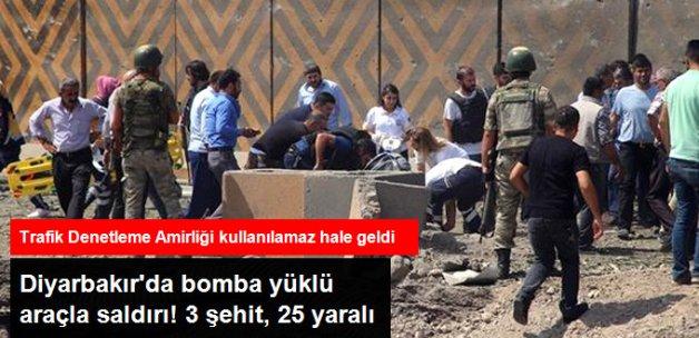 Diyarbakır'da Bomba Yüklü Araçla Saldırı! 2'si Polis 3 Şehit, 25 Yaralı