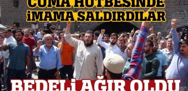 Diyarbakır'da imama saldıran provokatörü linçten polis kurtardı