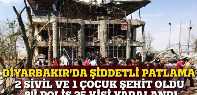 Diyarbakır'da şiddetli patlama: 2 polis ve 1 sivil şehit
