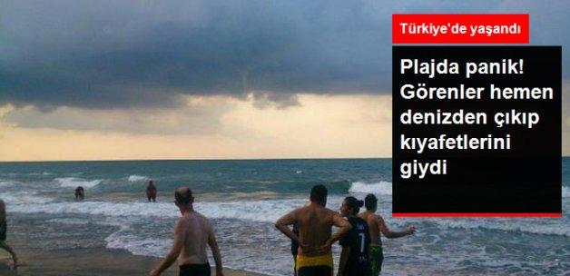 Düzce'de Çıkan Hortum Denize Girenleri Korkuttu