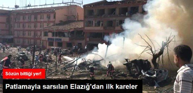 Elazığ'daki Patlamanın Şiddeti Fotoğraf Karelerinde