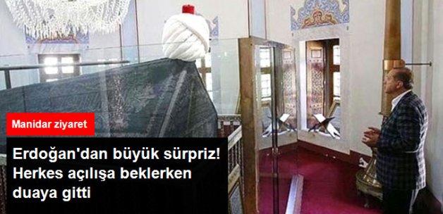 Erdoğan'dan Açılış Öncesi Sürpriz! Yavuz Sultan Selim'in Mezarını Ziyaret Etti