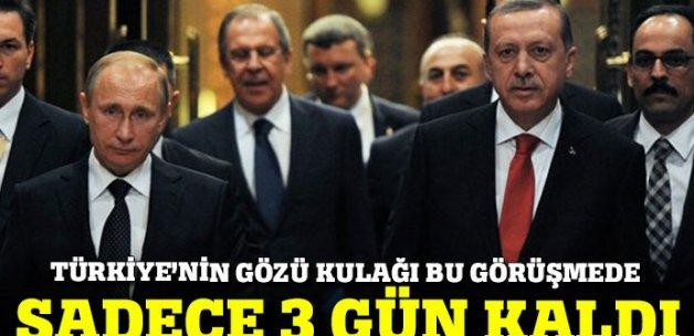 Erdoğan-Putin zirvesine 3 gün kaldı!