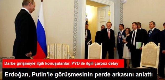 Erdoğan, Rusya'da Putin ile Yaptığı Görüşmenin Ayrıntılarını Anlattı