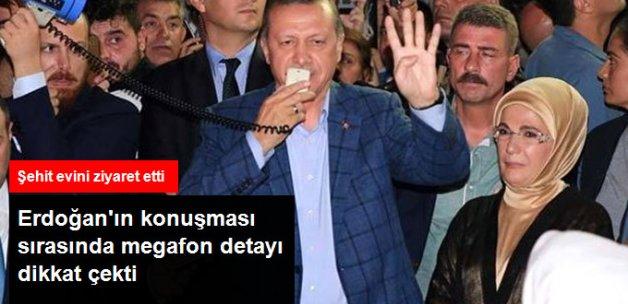 Erdoğan Şehit Evini Ziyaret Etti, Konuştuğu Megafonu Bilal Erdoğan Tuttu