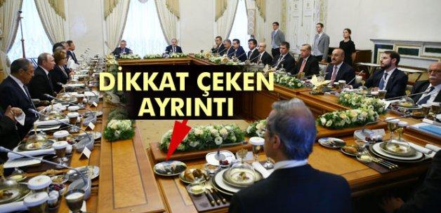 Erdoğan ve Putin'in yemeğinde dikkat çeken ayrıntı