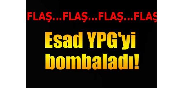 Esad, YPG'yi bombaladı!
